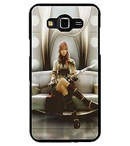 ColourCraft Warrior Girl Design Back Case Cover for SAMSUNG GALAXY GRAND MAX G720