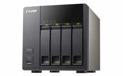 QNAP TS-469L (Diskless) 4 Bay All-in-One Desktop iSCSI/IP-SAN NAS Storage Combo Solution for Server Virtualization