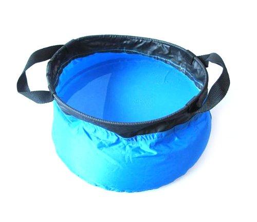 BAAKYEEK Blaue bewegliche 5L Outdoor faltbare Camping Water Basin Waschbecken praktische Schüssel