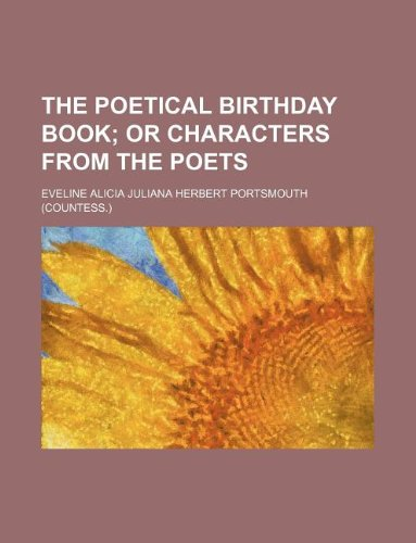 The poetical birthday book
