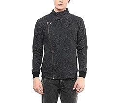 Hypernation Black Color Causal Jacket For Men