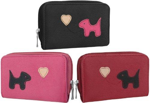 EyeCatchBags - Dog Emblem Womens Leather Purse
