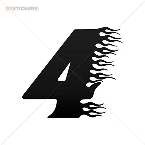 Sticker Racing Flame Number Four durable Boat artwork fireball mors symbol AX96C цены онлайн