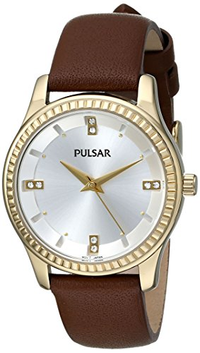 Pulsar Three-Hand Leather - Brown Women's watch #PH8098