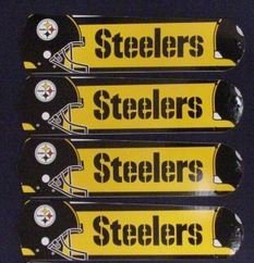 Ceiling Fan Designers 52SET-NFL-PIT NFL Pittsburgh Steelers Football 52 In. Ceiling Fan Blades ONLY at Amazon.com