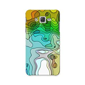 ArtzFolio Abstract Colorful Chaotic Pattern : Samsung Galaxy J2 Matte Polycarbonate ORIGINAL BRANDED Mobile Cell Phone Protective BACK CASE COVER Protector : BEST DESIGNER Hard Shockproof Scratch-Proof Accessories