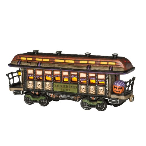 Department 56 Original Snow Village Halloween 10th Anniversary Haunted Rails Passenger Car Lit House