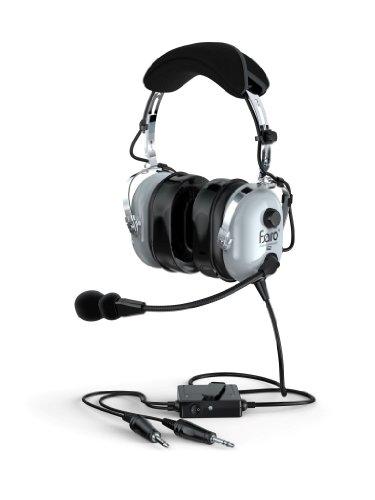 Faro G2-Anr Premium Anr Pilot Aviation Headset With Mp3 Input, Gray
