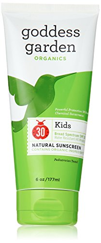 Theme Park Food and Safety EWG 2016 Top Rated Sunscreen for Kids - Goddess Garden Kids SPF 30 Natural Sunscreen, Lotion, 6-Ounce