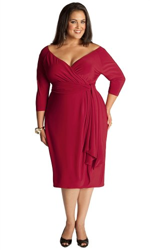 IGIGI Women's Plus Size Marcelle Cocktail Dress in Red 18/20