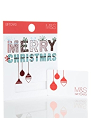 Festive Baubles Christmas Gift Card