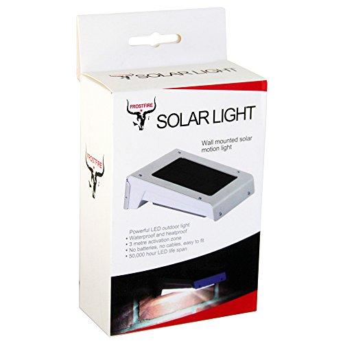 Frostfire 16 LED solaire sans fil avec détecteur de mouvement