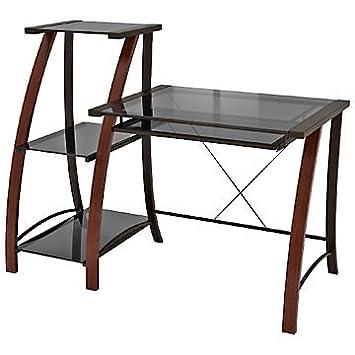 """Triana Glass Desk and Bookcase - 54""""W"""