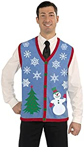 Forum Novelties Men's Plus Size Snowflake Christmas Vest by Forum Novelties Costumes