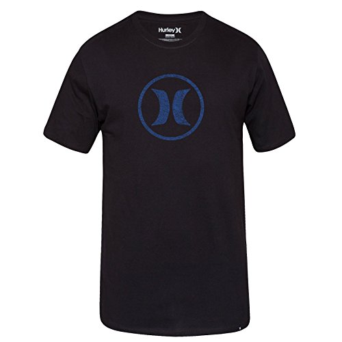 Hurley Mens Circle Icon Short Sleeve T-Shirt MTS0021490,Black,L