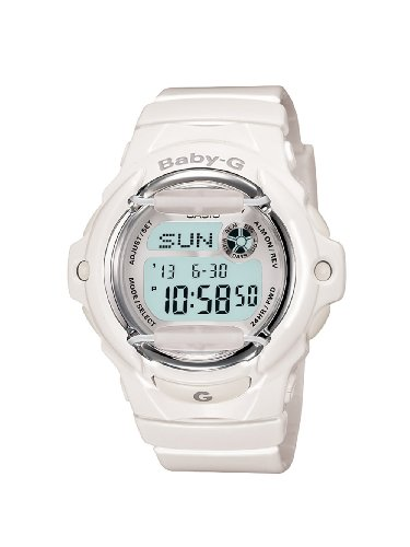 Casio Women's Baby-G BG169R-7A White Resin Quartz Watch with White Dial