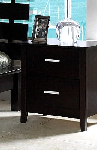Cheap contemporary style cappuccino finish wood night for Night stand cost