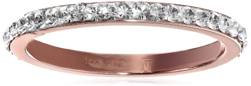 14K Rose Gold Italian Cubic-Zirconia All-Around Band, Size 8