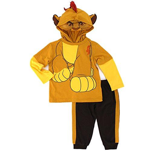[Disney Baby Boys' 2 Piece Kion of the Lion Guard Costume Hoodie with Mesh Mask and Fleece Pant, Brown,] (Disney Nala Costume)