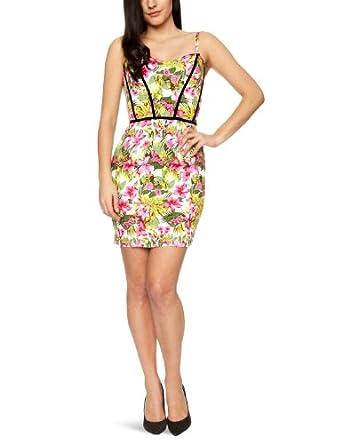 Ruby Rocks Women's Corset Pencil Dress, Pink, Size 8