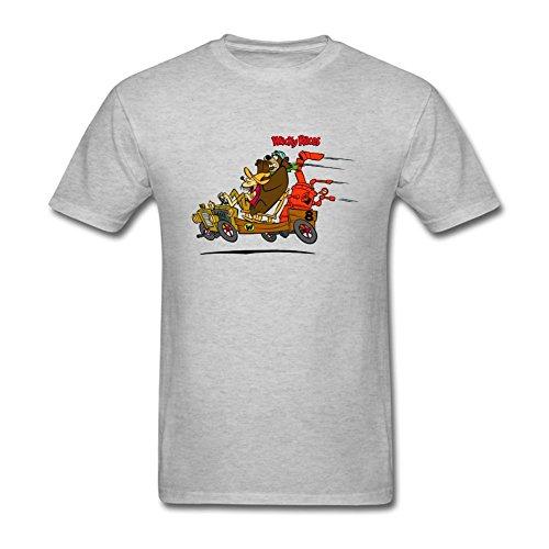 SLJD Men's Wacky Races Cartoon Design T Shirt