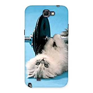 Stylish Fit Cat Multicolor Back Case Cover for Galaxy Note 2