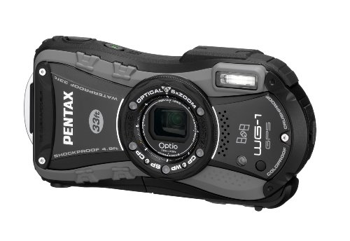 Pentax Optio WG-1 GPS Digital Camera - Grey (14MP, 10m Water Proof, 1.5m Shock Proof,  5 x Wide Angle Optical Zoom and GPS Function) 2.7 inch LCD