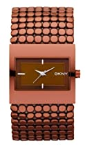 DKNY NY8394 matte metallic brown dial polished brown ion plated stainless steel bracelet women watch NEW
