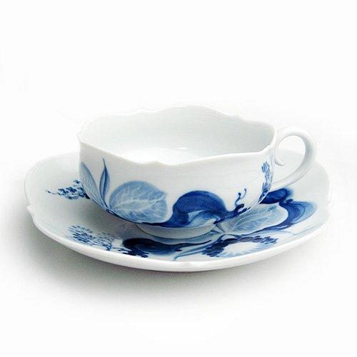 マイセン(Meissen)ブルーオーキッド ティーカップ&ソーサー 23633[並行品]