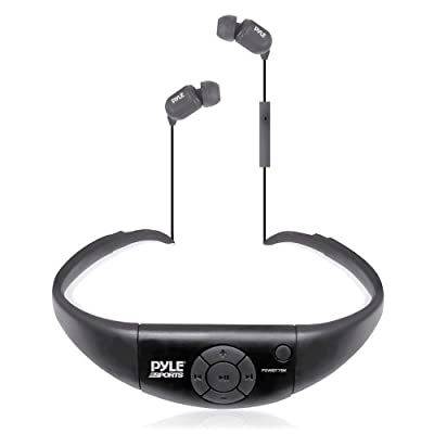 Pyle Active Sport Pyle Active Sport Bluetooth 2-in-1 Waterproof Headset & Microphone for Hands-Free Call Answering