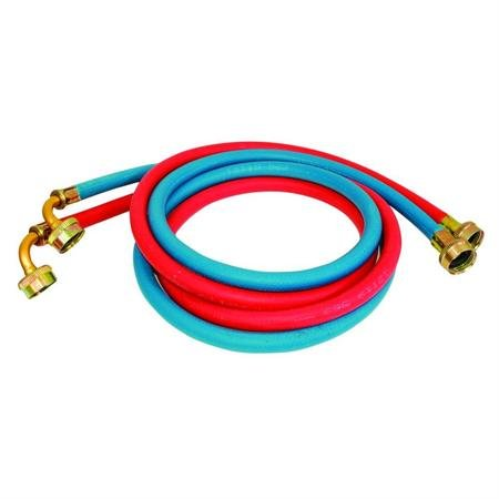 6' Washing Machine Fill Hose Pair - One Red/One Blue With White Earbud Headphones