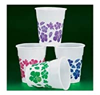 50 Plastic Hibiscus Drink Cups Luau Party Decor/Tropical 16 Oz Beverage by Oriental Trading Company
