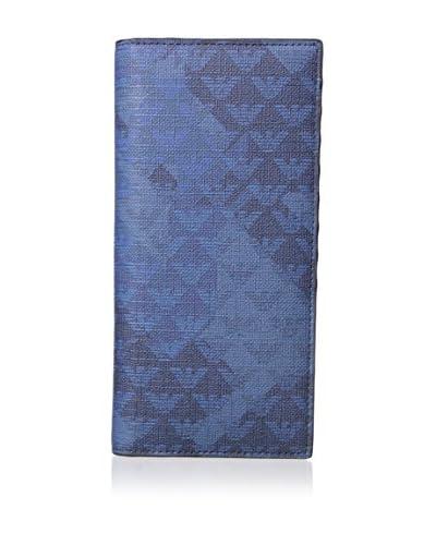 Emporio Armani Men's Logo Wallet, Blue/Deep Blue