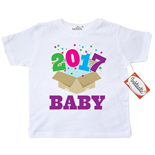 Inktastic Little Boys' 2017 New Year Baby 1st Toddler T-Shirt 3T White
