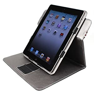 AYL 360 Degrees Rotating 9-in-1 Stand Leather  Case  for Ipad 2
