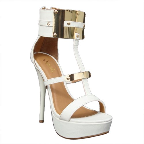Womens Qupid Metallic Platform Dazzling87
