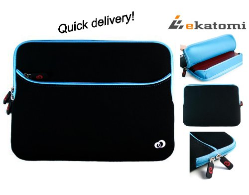 13 inch Laptop Bag Sleeve Invalid for Acer Aspire S3 - Blue & Black. Bonus Ekatomi screen cleaner