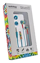 AUDIOLOGY AU-165-ST In-Ear Stereo Earphones with Microphone for MP3 Players, iPods and iPhones (Multicolored)