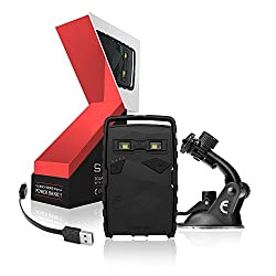 Elixier Tech ET-Stone Kit (1 Solar Power Bank, 1Flexi Car Mount and 1 ET USB Cable) - Black