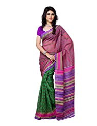 101cart Multi Color Art Silk Party Wear Saree - B00RHSA9R2