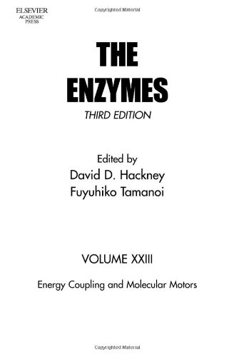 Energy Coupling and Molecular Motors, Volume 23, Third Edition (The Enzymes)