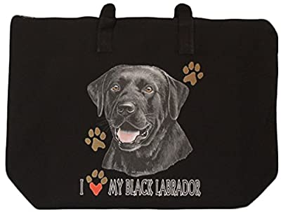 BAGedge Black Labrador Retriever Zippered Tote Bag