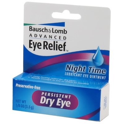 Bausch & Lomb Advanced Eye Relief Night Time 1/8oz(3.5gm) Persistent Dry Eye Ointment