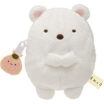 San-x Sumikko Gurasi Plushy Coin Case Polarbear - 1