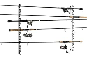 Organized Fishing Horizontal Wire Ceiling Fishing Rod Rack