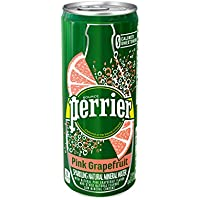 30-Pack Perrier Sparkling Natural Mineral Water, Pink Grapefruit, 8.45 Ounce