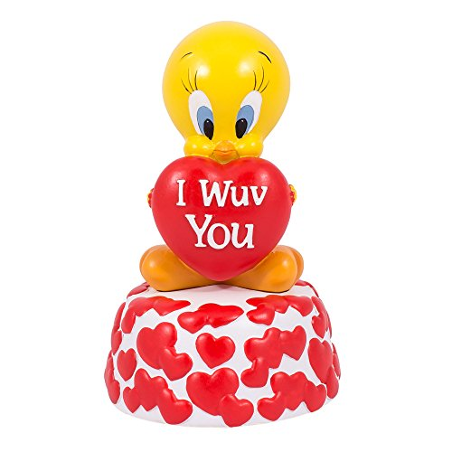 I Wuv You Hearts Tweety Musical Figurine