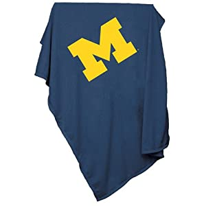 Michigan Wolverines NCAA Sweatshirt Blanket Throw by Logo Chair