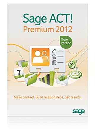 Sage ACT! Premium 2012 - Includes 1 hour ACT! 101 training webinar held weekly
