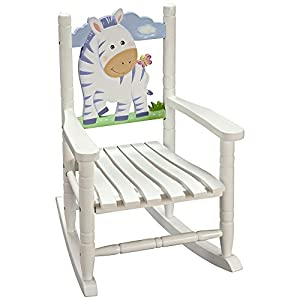 Fantasy Fields Fantasy Fields- Sunny Safari Rocking Chair with Time Out Chair and Coat Rack, White, Wood by Teamson Design Corporation
